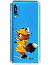 Oihxse Transparente Silicona Case Compatible con Samsung Galaxy A5 2018/A8 2018 Funda Suave TPU Protección Carcasa Moda Dibujos Animados Divertida Diseño Ultra-Delgado Cubierta-Zorro