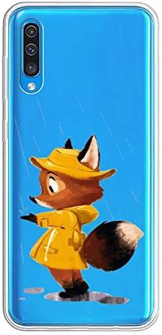 Oihxse beschermhoes modieus transparant siliconen compatibel met Samsung Galaxy Note 3 ultradun zacht TPU schattig diercollectie bescherming tegen krassen bumper Vos