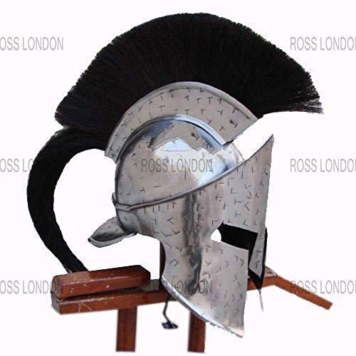 Medieval 300 Movie Spartan Leonidas Helmet Costume Halloween Helmet Gift Silver -