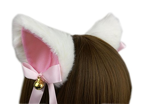 Ettonsun Furry Neko Cat Ears with Bell