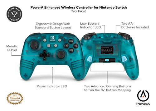 PowerA Enhanced Wireless Controller for Nintendo Switch Teal Frost 5