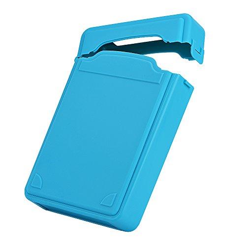 Asixx SSD Storage Box, HDD Storage Box 3.5inch Hard Case HDD SSD Anti-static Disk Storage Box Shockproof Dust-proof Non-slip(3.5inch)(Blue) by Asixx (Image #3)