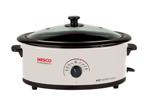 Nesco 4816-14G-30 6-Quart Roaster Oven with Glass Lid, Non-Stick Cookwell, Ivory (Nesco Roaster Oven Parts compare prices)