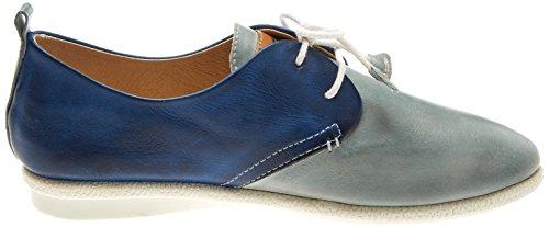 Aqua Calabria Derby Pikolinos Azul Cordones de W9k para Mujer Zapatos wfHzHaxdq