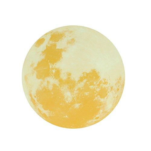 30cm Luminous Wall Stickers Moonlight Home Decor Yellow - 3