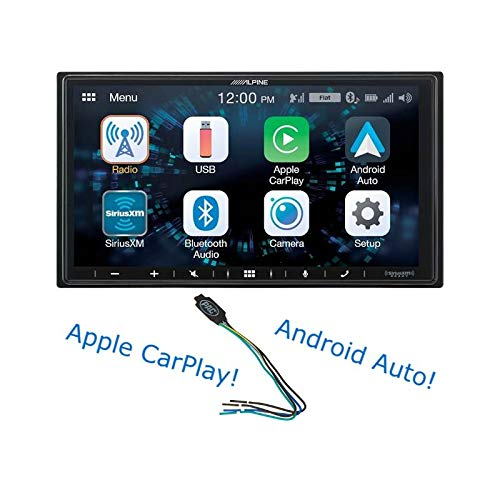 "Alpine iLX-W650 7"" Mech-Less Receiver Compatible with Apple CarPlay and Android Auto Bundled w/PAC TR1 Video Lockout Bypass Trigger Module"