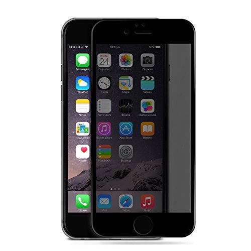 Mcoolbo iPhone 7 glass Privacy Anti-spy Tempered Glass Screen Protector Screen Shield Guard for iPhone 7 4.7 inch (Black/Privacy)
