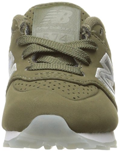 New Balance Youth 574 Luxe Rep Nubuck Trainers Sage