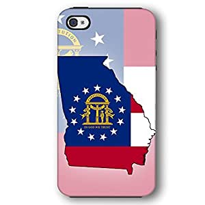 Georgia USA State Flag iPhone 4 and iPhone 4S Armor Phone Case wangjiang maoyi