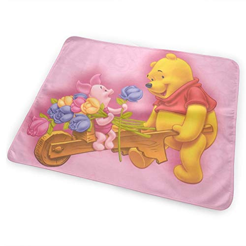 CFECUP Baby Changing Pad Winnie The Pooh and Piglet Soft and Absorbent Urine Pads 25.5