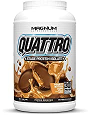 Magnum Nutraceuticals Quattro Protein Powder - 2lbs - Peanut Butter Cups - Protein Isolate - Lean Muscle Creator - Metabolic Optimize