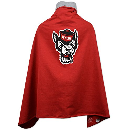 NCAA North Carolina State Wolfpack Children Unisex Cape Drape, One Size, Red Carolina State Drape