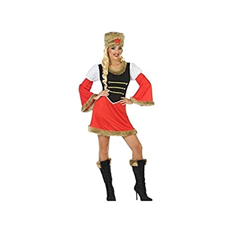 Atosa-54423 Disfraz Rusa, Color Rojo, M-L (54423): Amazon.es ...