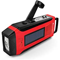 RunningSnail Emergency Solar AM/FM//NOAA Digital Weather Radio with 3W LED Flashlight, SOS Alarm & 2000MAh Power Bank for Hurricane/ Storm/ Earthquake/ Camping/ Hiking