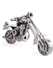 Fancinate Collectible Art Sculpture Die Cast Harley Davidson Scrap Metal Motorcycle Small Size (Metal Grey)
