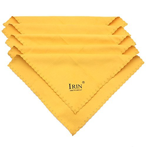 Price comparison product image Andoer 5pcs Universal Microfiber Cleaning Polishing Polish Cloth for Musical Instrument Guitar Violin Piano Clarinet Trumpet Sax
