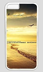 Beach Beautiful Scene DIY Hard Shell Transparent Designed For iphone 6 plus Case