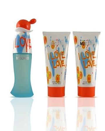 e07097573a2 Amazon.com : Moschino I Love Love 3 Piece Gift Set for Women : Beauty