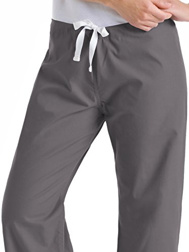 c5bac1e12c9 Landau Urbane Essentials 9502 Women's Relaxed Drawstring Scrub Pant Steel  Grey 3XL