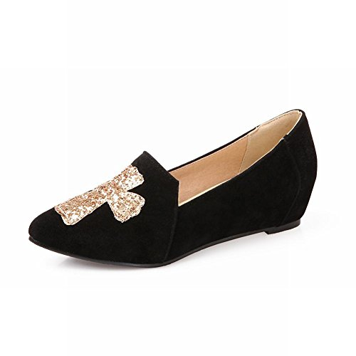 Carol Shoes Casual Da Donna Con Paillettes Lucido Modello Croce Moda Tallone Nascosto Scarpe Nere