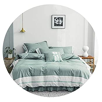 Image of Cotton White Gray Shabby Patchwork Duvet Cover Bedding Set 4/6Pieces Ultra Soft Comforter Cover Bed Sheet Pillow Shams,Color 6,King Size 6pieces,Fitted Bed Sheet Home and Kitchen