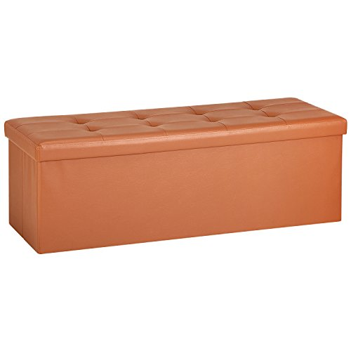 orange storage ottoman - 4