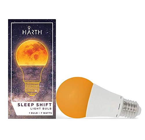 Sleep Shift Light Bulb. Low Blue Light Optimized for Natural Restful Sleep. Supports Healthy Sleep Patterns and Natural Melatonin Production. 7 Watt Ambient Bedroom Light Bulb