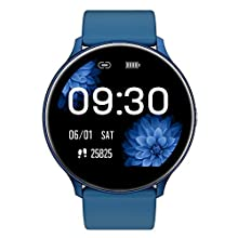 Smart Watch for Android and iOS Phone 2020 Latest Version IP68 Waterproof, Fitness Tracker Watch with Pedometer Heart Rate Monitor Sleep Tracker Touchscreen, Smartwatch for Men and Women(Blue)