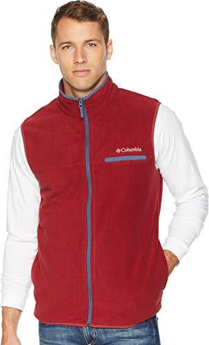 Columbia Men's Mountain Crest¿ Vest Red Element/Dark Mountain Small