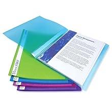 Rapesco Documentos - Libro portadocumentos A4 con 40 bolsillos, colores traslucidos, 10 unidades