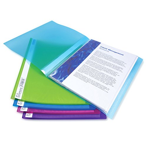 Rapesco A4 Flexi Presentation Display Book, Assorted Colours - Pack of 10 40 Pockets ()