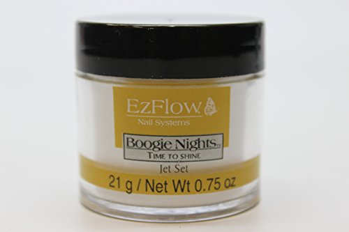 EZ Flow Time To Shine Glitter False Nails, Jet Set, 0.75 Ounce