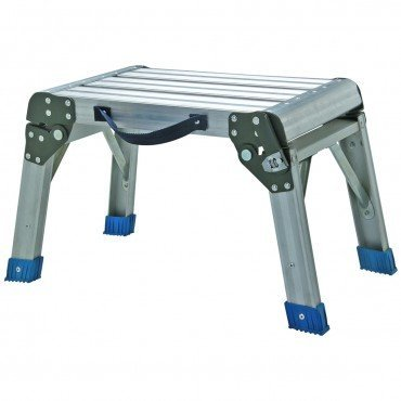 Step Stool and Working Platform 350 Lbs. Capacity Foldable Anodized Aluminum by - Platform Working