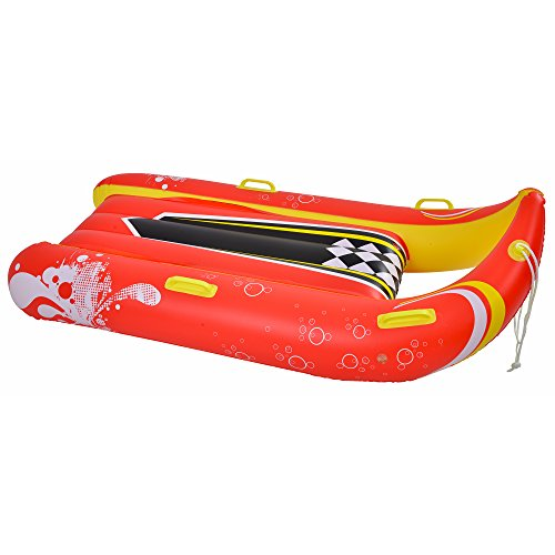Blue Wave Sports Power Glider 2-Person Inflatable Snow Sled, 57-Inch