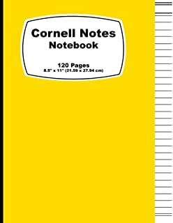cornell notes notebook orange cover note taking notebook for