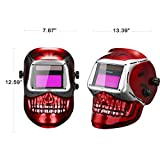 DEKOPRO Welding Helmet Solar Powered Auto Darkening Hood with Adjustable Shade Range 4/9-13 for Mig Tig Arc Welder Mask