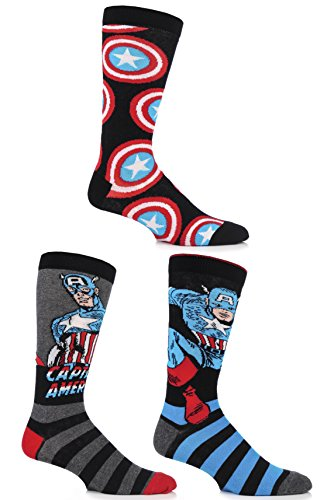 SockShop-Mens-3-Pair-Marvel-Captain-America-Mix-Cotton-Socks