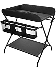 Family care/Baby Dresser Changing Baby Changing Station with Bath Portable Changing Tray Travel Baby Change Table Foldable Baby Dresser Change Pad and Safety Strap