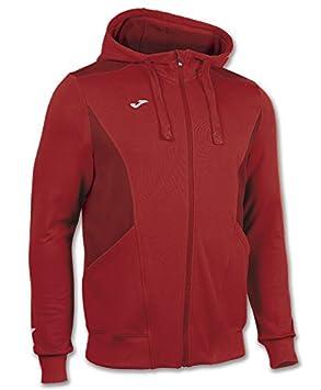 Joma Chaqueta capucha comfort rojo para hombre: Amazon.es: Deportes y aire libre