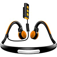 Besteker Open Ear Wireless Bone Conduction Headphones Bluetooth 4.1 Sports Stereo Headphone with Separate Wring Diagram (Orange+Black)