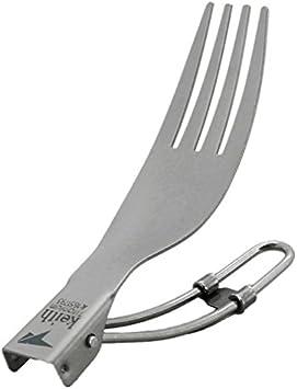 Keith Titan – Cubiertos de acampada loffel, Spork Cena Tenedor y cuchillo