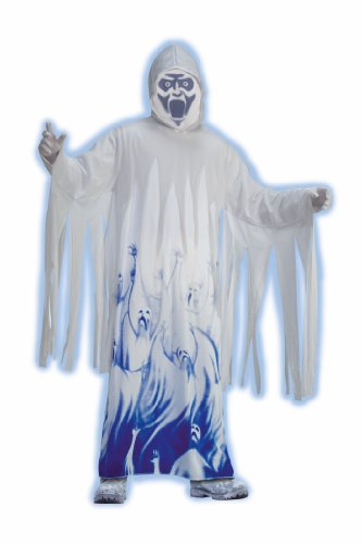 Forum Novelties Men's Ghostly Soul Taker Costume, White, Standard