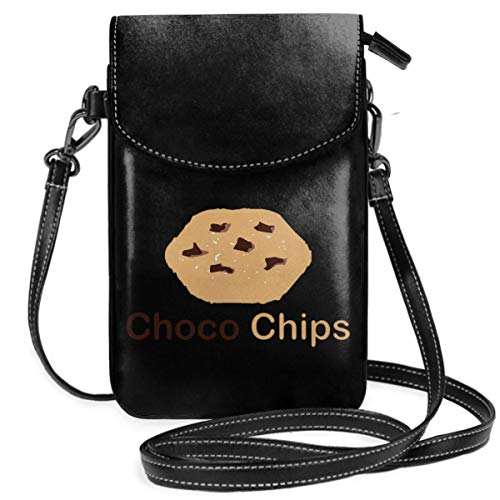 Small Cell Phone Purse For Women Leather Choco Chip Insides Card Slots Crossbody Bags Wallet Shoulder Bag