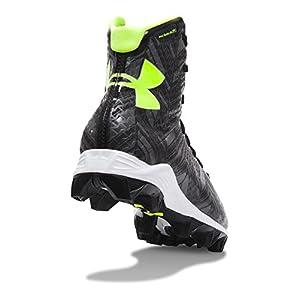 Under Armour Kids' UA Highlight RM Jr. Lacrosse Cleats 3 Black