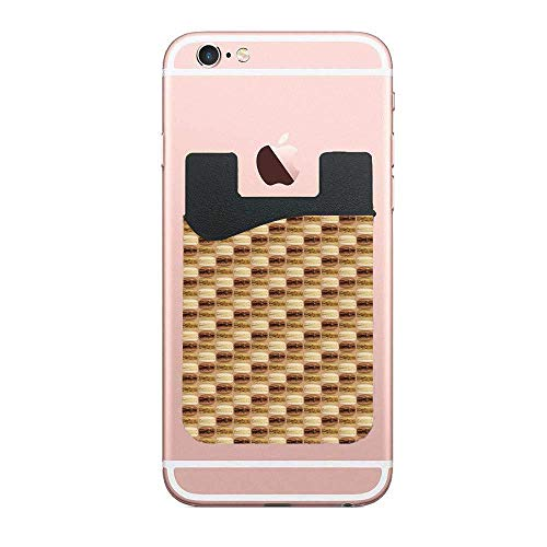 (TysoOLDPhoneC Great Wall - Coffee Choco Nilla Card Secure Holder Stick on PU Wallet Pouch Support iPhone Or Android Smartphones)