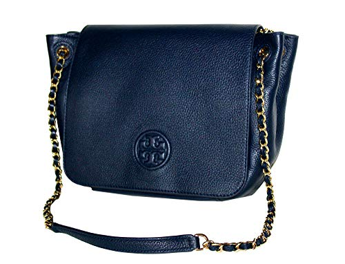 Tory Bag Tory Flap Handbag Small Burch Navy Shoulder 46176 Bombe Women's ffZO1