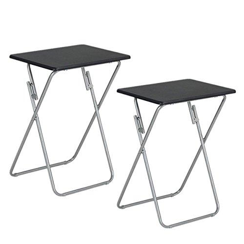 Aingoo 2 Pack TV Trays Snack Table Folding Laptop Tray Black (Tray Table Folding Snack)
