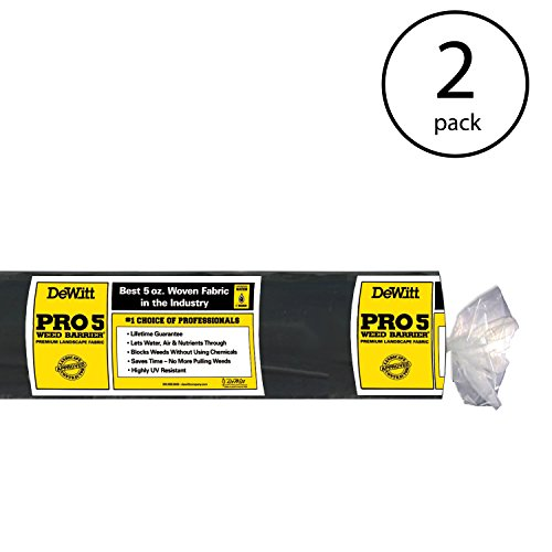 DeWitt P4 4'x250' Pro 5 Barrier 5oz Fabric (Pack of 2)