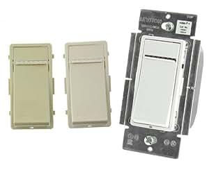 Leviton VRMX1-1LZ 1000W Vizia RF Z-Wave Universal Scene Capable Dimmer, White/Ivory/Light Almond, Works with Amazon Alexa
