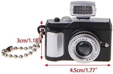 Dabixx Keychain, Mini Linda cámara réflex TLR Led llaveros LED ...